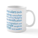 Birding Tag Cloud Mug