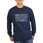 Birding Tag Cloud Long Sleeve Dark T-Shirt