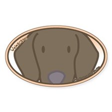 Anime Weimaraner Oval Decal