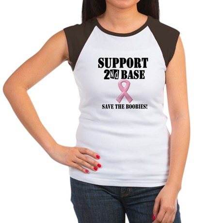 Support Second Base Women's Cap Sleeve T-Shirt