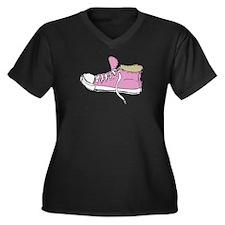 Unique Conversation Women's Plus Size V-Neck Dark T-Shirt
