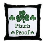 Pinch Proof Shamrock Throw Pillow