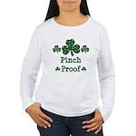 Pinch Proof Shamrock Women's Long Sleeve T-Shirt