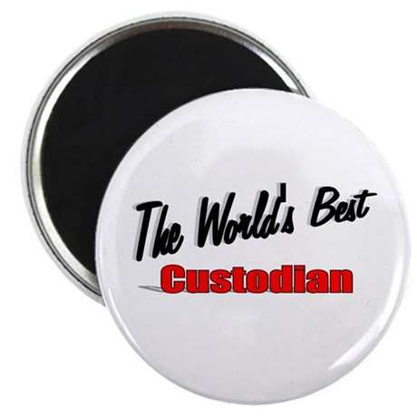 """The World's Best Custodian"" 2.25"" Magnet (100 pac"