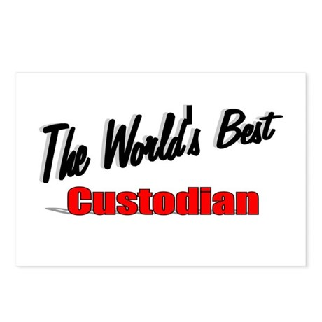 """The World's Best Custodian"" Postcards (Package of"