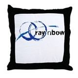 Ray 'n Bow Logo (Black) Throw Pillow