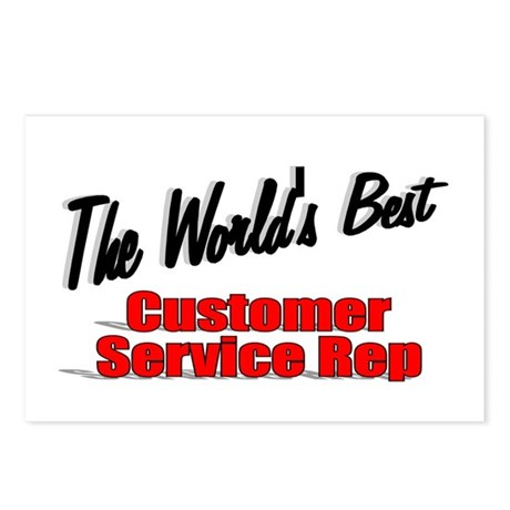 """The World's Best Customer Service Rep"" Postcards"