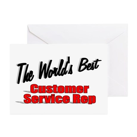 """The World's Best Customer Service Rep"" Greeting C"