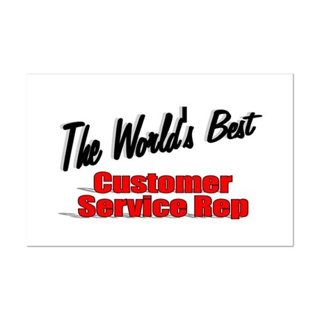 """The World's Best Customer Service Rep"" Mini Poste"