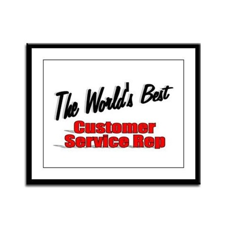 """The World's Best Customer Service Rep"" Framed Pan"