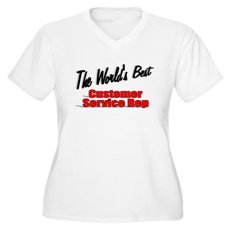 """The World's Best Customer Service Rep"" Women's Pl"