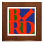 Pop Art Bird Framed Tile