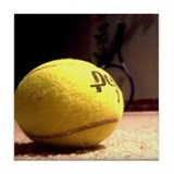 Cool Tennis art Tile Coaster
