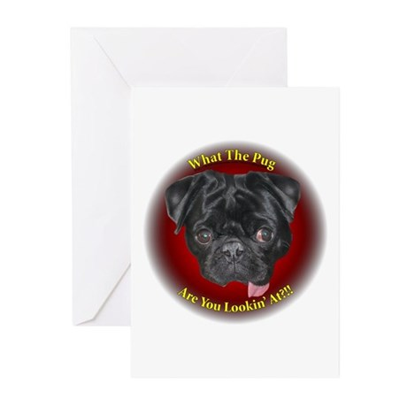 What The Pug? Greeting Cards (Pk of 10)