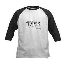 Diva...in training Kids Baseball Jersey