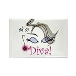 Oh so Diva Rectangle Magnet (10 pack)
