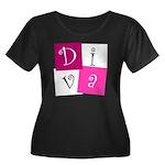 DIVA Design! Women's Plus Size Scoop Neck Dark T-S