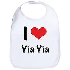 I 'heart' Yia Yia Bib