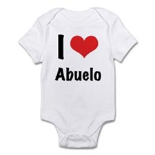 "I ""heart"" abuelo Infant Bodysuit"