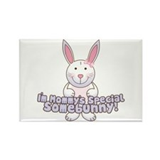 Mommy's Somebunny Girl Rectangle Magnet (100 pack)