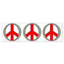 Internation Three Peace Symbol Bumper Bumper Sticker