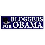 Bloggers for Obama bumper sticker