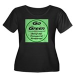 Go Green Style 2008 Women's Plus Size Scoop Neck D