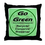 Go Green Style 2008 Throw Pillow