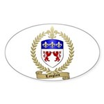LANGLAIS Family Crest Oval Sticker