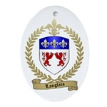 LANGLAIS Family Crest Oval Ornament
