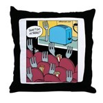 Fork at Toaster Movie Throw Pillow