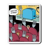 Fork at Toaster Movie Mousepad