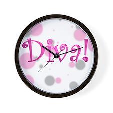Diva Bubbles Wall Clock