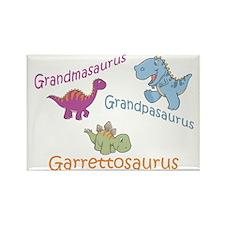 Grandma, Grandpa, & Garrettos Rectangle Magnet (10