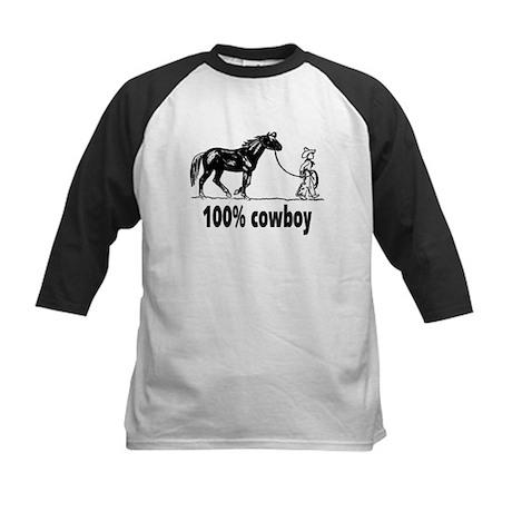 100% Boy Leading Horse Vintag Kids Baseball Jersey