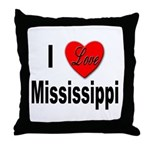 I Love Mississippi Throw Pillow