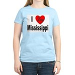 I Love Mississippi (Front) Women's Pink T-Shirt