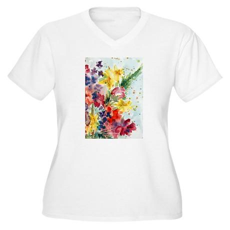 Mother's Garden Women's Plus Size V-Neck T-Shirt