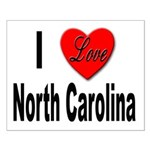 I Love North Carolina Small Poster