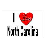 I Love North Carolina Postcards (Package of 8)