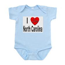 I Love North Carolina Infant Creeper