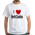 I Love North Carolina (Front) White T-Shirt