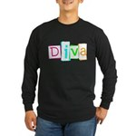 Abstract Diva Long Sleeve Dark T-Shirt