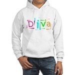Abstract Diva Hooded Sweatshirt