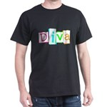 Abstract Diva Dark T-Shirt