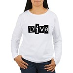 Abstract Diva Women's Long Sleeve T-Shirt