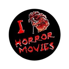 "I heart horror movies 3.5"" Button"