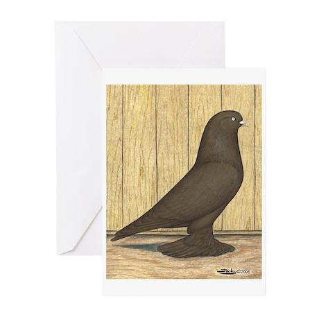 Brown Self West Greeting Cards (Pk of 10)