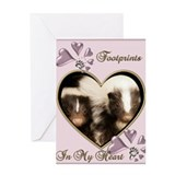 Footprints in my heart Valentine's Day Card