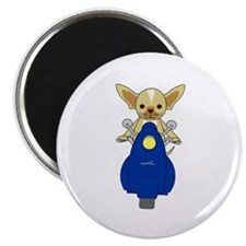 """Small But Mighty Scooter Dog 2.25"""" Magnet (10 pack"""